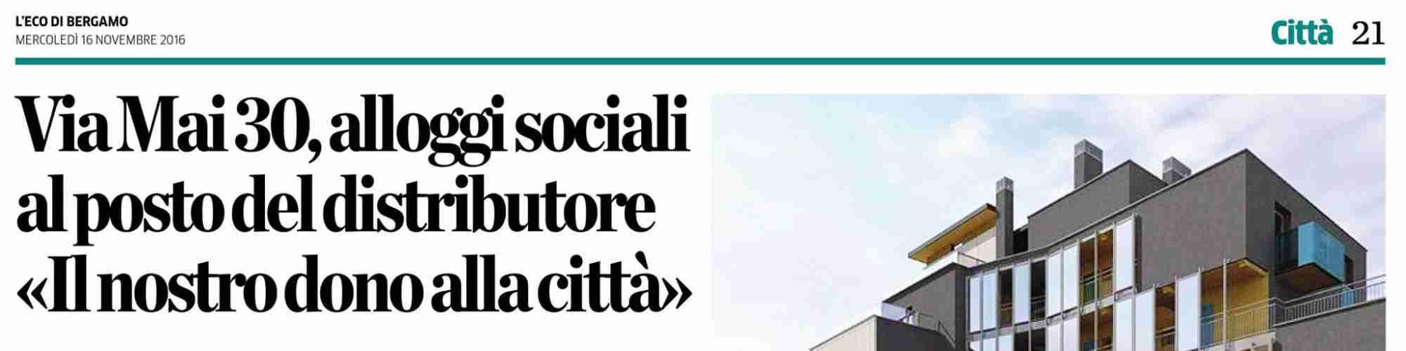 Social Housing Via Maj 30 – Bergamo – Fondazione Morzenti